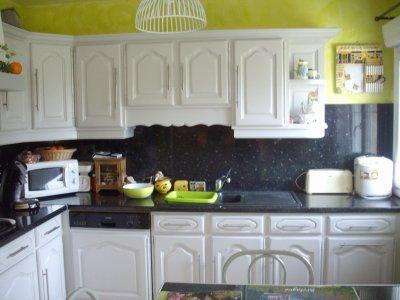 cuisine gris perle mur vert granny la r novation de